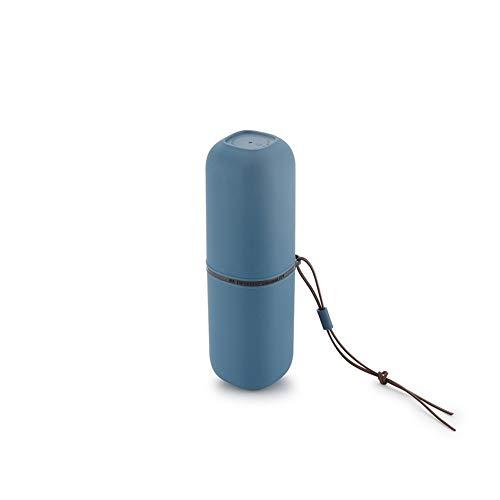 erhuo Tragbare Zahnbürsten-Aufbewahrungsbox für Reisebecher-Tassenwaschkapsel-Tassenreise, blau B - Oral-b-fluorid