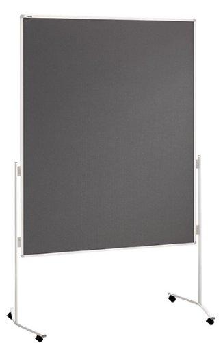 Franken ECO-UMTF12R Moderationstafel, 120 x 150 cm, Filz grau -