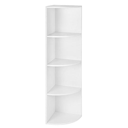 regal, Standregal, Bücherregal aus Holz, für Küche, Schlafzimmer, Wohnzimmer, Büro, Weiß LBC42WT ()