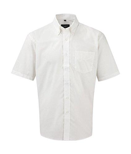 Z933 Kurzärmeliges Oxford Hemd Oberhemd Herrenhemd S / 37/38,White (Oxford-hemd)