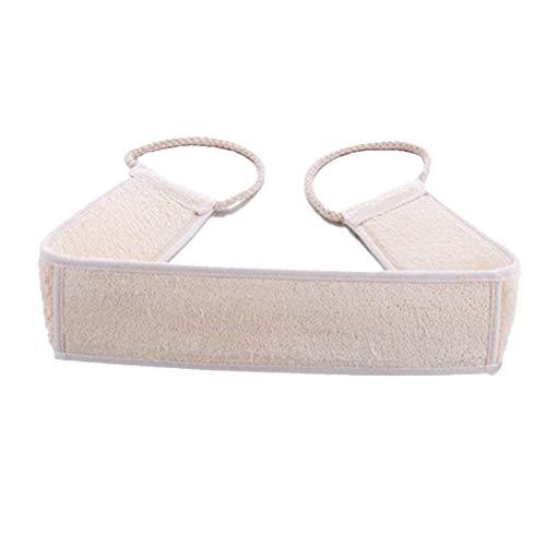 Cdet 2X Luffa Körperpad mit Rücken Gurt Natürliche Luffa Bad Körper Dusche Schwamm Wäscher Luffaschwämme Rückenscrubber für Bad und Dusche (Weiß-2 pcs)