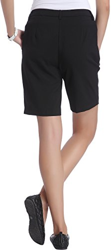 Only Women's Black Colored Casual Wear Shorts