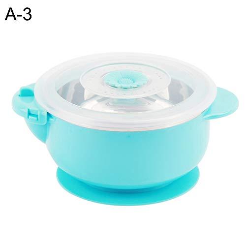 TLfyajJ Wasser-Einspritzung Anti-Drop Edelstahl Baby Thermal Bowl Sucker Geschirr, plastikfrei, auslaufsicher   Geeignet Für Erwachsene Und Kinder   Blau B (Planetbox-lunch-box)