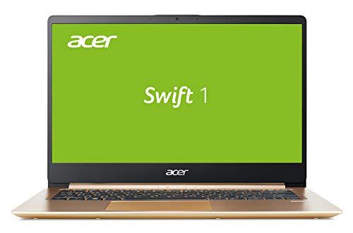 Acer Swift 1 (SF114-32-P5FA) 35,6 cm (14 Zoll Full-HD IPS matt) Ultrabook (Intel Pentium N5000, 4 GB RAM, 64 GB eMMC, Intel UHD, Win 10 Home im S Modus) gold