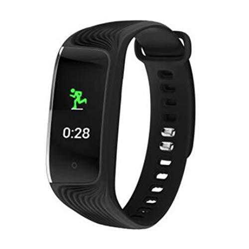 Preisvergleich Produktbild Wasserdichte Smartwatch / Push-Informationen / Gesundheitsüberwachung / Intelligente Erinnerung / Schlafanalyse / Schrittzähler(Black)