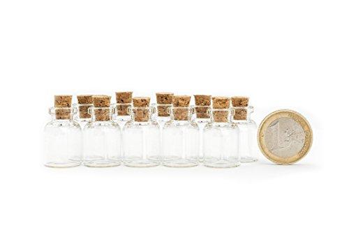 1,5 Ml Mini (Mini Glasfläschchen im 10er Set 1.5 ml Glasflaschen Gewürzglas Likörflaschen Flasche Klarglas mit Korken von der Marke PRECORN)