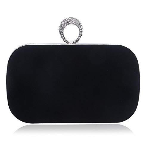 DMMW-Bags Abendtasche Damen Abendtasche Handtasche Prom Bag Geldbörse for Cocktailparty Braut Umhängetasche Umhängetaschen Handtasche Für Hochzeit Und Party (Farbe : Schwarz, Größe : Free Size) -