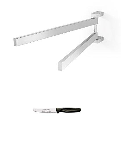 Preisvergleich Produktbild Zack LINEA Handtuchhalter matt + Edelstahlstyling Universalmesser im Set