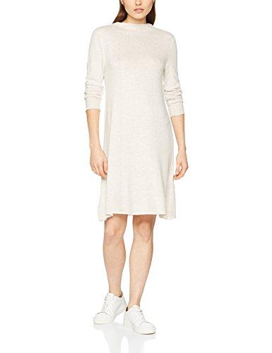 ONLY Damen Kleid Onlkleo L/S Dress Knt Noos, Beige (Hazelnut Detail:Melange), 34 (Herstellergröße: XS)