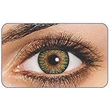 lentilles de couleur sans correction fantaisie annuelles valables 1 an freshview neuves gris vert bleu marron violet (green)