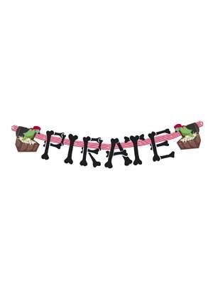 NEU Girlande PIRATE, Totenkopfinsel, 165 cm