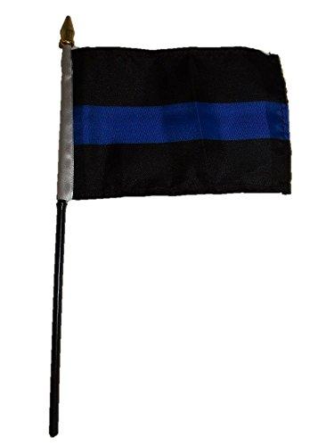 Air Breeze Marine (Moon Großhandel von 12Polizei Dünn Blau Line 10,2x 15,2cm Schreibtisch Tisch Flagge Premium Farb- und UV-Fade Best Garten Outdor Decor Beständig Leinwand Kopf- und Polyester Material Flagge)