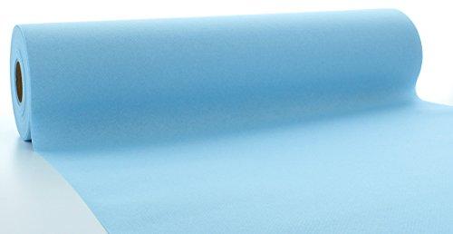 s® Airlaid Tischläufer 40 cm x 24 m | Tischdecken-Rolle stoffähnlich | praktische Einmal-Tischdecke für Hochzeit oder Partys | Hell-Blau ()