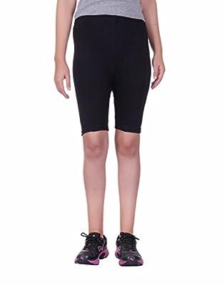 Alisha Women's Cotton Lycra Cycling Shorts/Tights - Pack of 2