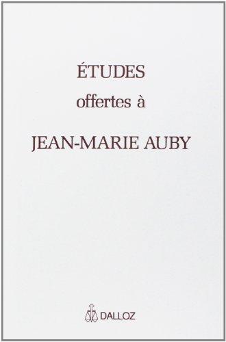 Mlanges offerts  Jean-Marie Auby