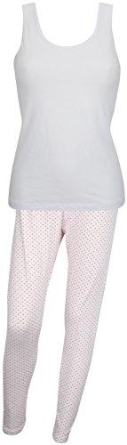 Ex-Store Damen Schlafanzug Weiß - White + Hearts