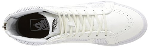 Vans - U Sk8-Hi Slim Zip Perf Leather, Sneakers, unisex Bianco (Perf Leather/True White)