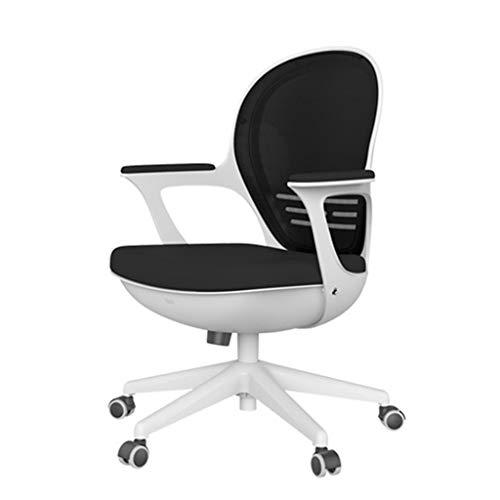 Bürostühle für schlechte Rückenlehnen, ergonomischer Rückenlehnenschreibtisch Stuhl Ergonomischer Rückenlehnenschreibtisch mit Armlehnen zur einfachen Montage-black