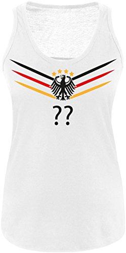 Luckja EM 2016 Deutschland Trikot Wunschname und Wunschnummer M 02 Damen Tanktop