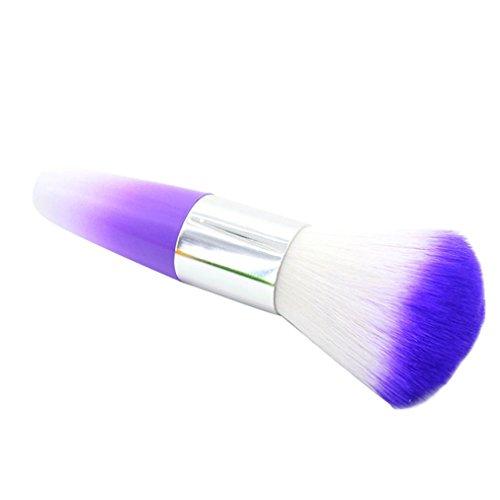 TPulling Farbe Nail Art Staubreiniger Bürsten Werkzeug für Foundation Powder Acryl UV Gel Pulver Remover Kit (Lila)