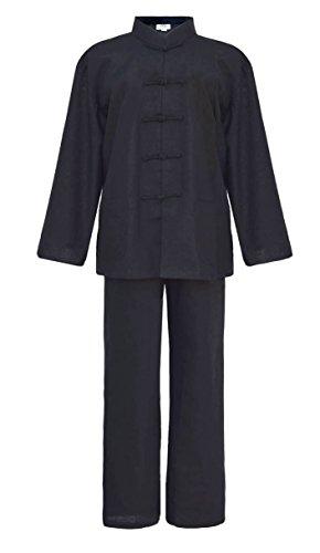Herren Blaumwolle Tai chi, Qi Gong, kung fu Anzug schwarz XXXL