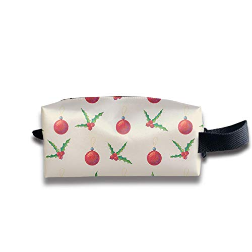 Novelty Travel Cosmetic Makeup Bag Christmas Holly Berries Cosmetic Toiletries Organizer Bag Pencil Case Storage Bag - Berry Lip Pencil