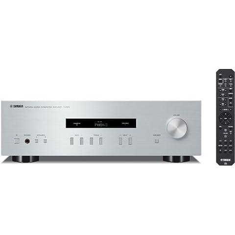 Yamaha A-S201 - Amplificador Hi-Fi estéreo de 100 W, plata