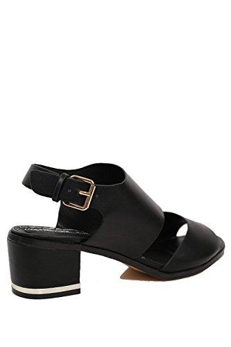 PILOT® double-sangle sandales de talon de bloc Noir