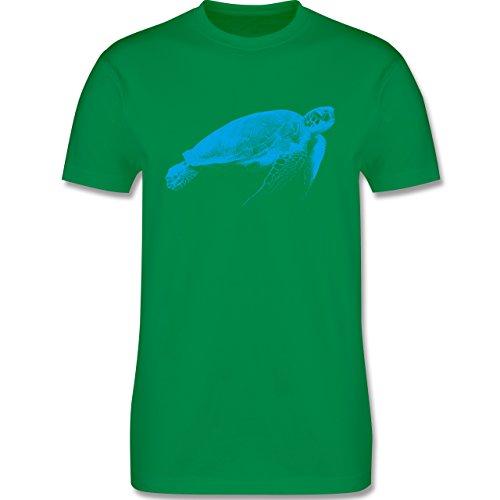 Shirtracer Sonstige Tiere - Wasserschildkröte - Herren T-Shirt Rundhals Grün