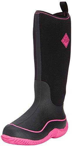 Muck Boots Hale, Damen Stiefel Schwarz (Black/Hot Pink)