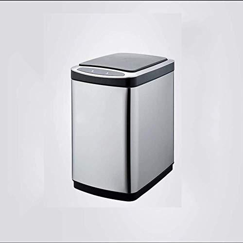 NINGNING Automatischer berührungsloser Infrarot-Bewegungssensor Mülleimer/Recycler, Edelstahl (20 l),Stainless-Steel - Dual Mülltonne