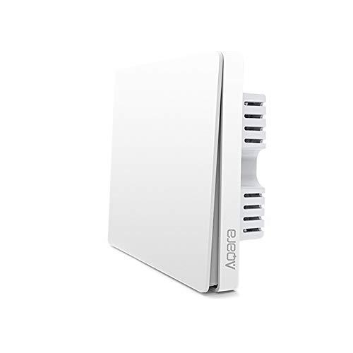Xiaomi Aqara Interruptor Wifi, Tipo Cortina Interruptor De Pared Wifi Compatible Con La Mijia Y Apple Homekit, Interruptor Inalambrico Para Motor De Obturador De Motor Tubular (2 Botón)