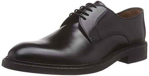 LottusseL6710-00503-01 - Zapatos Derby Hombre, color Negro, 45 EU Talla fabricante: 10.5 UK