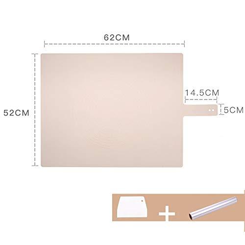 xgvvb Silikon Matte MatteLebensmittelqualität Panel Haushalt BackenwerkzeugeRosa (Schneidemesser+Kochen Aluminiumfolie Papier)