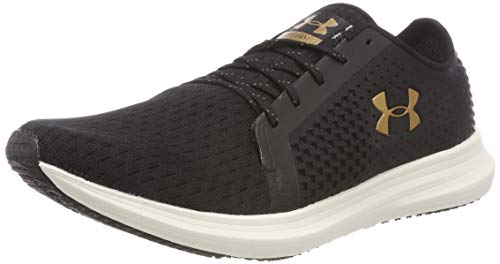Under Armour UA W Sway, Zapatillas de Running para Mujer, Negro Black/Ivory/Metallic Faded Gold 002...