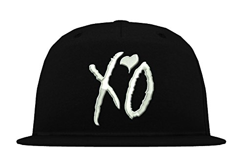 TRVPPY 5-Panel Snapback Cap Modell XO The Weeknd, Weiß-Schwarz, B610 - Tisa Hat