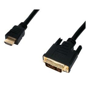 HDMI-DVI-Adapterkabel für Plasma-/LDC-/Computerbildschirme, vergoldet, 1,5m, 19-polig, schwarz