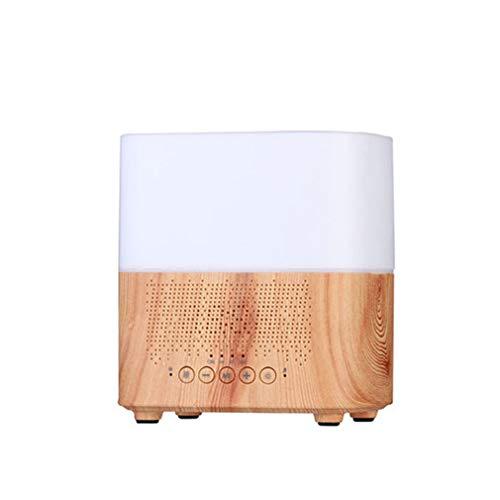 LHY FAN 300 ml ultraschall-luftbefeuchter mit Uhr/wecker und Bluetooth Lautsprecher Aroma diffusor mangels Wasser Auto abschalten, für Home Office,B (Wasser-heizung-wecker)