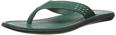 Franco Leone Men's Green Hawaii Thong Sandals - 6 UK/India (40 EU)