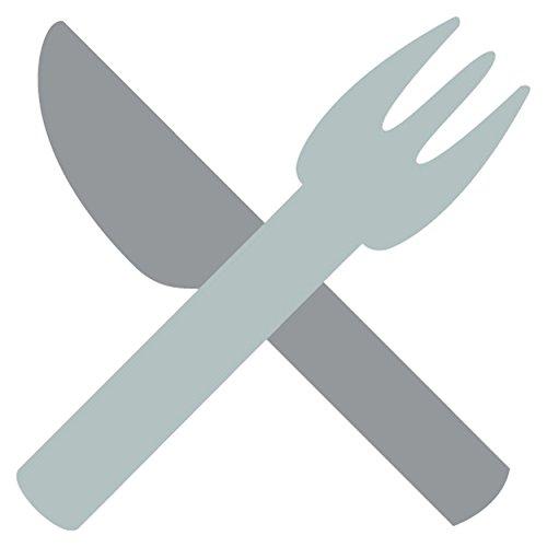 Gabel-und-Messer-Emoji-Metall-Schild