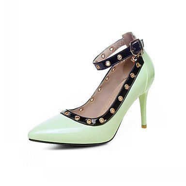 LYNXL Talloni delle donne Primavera Autunno Dress Comfort in similpelle ufficio & carriera Stiletto Heel Casual fibbia Blu Verde Bianco Almond Green