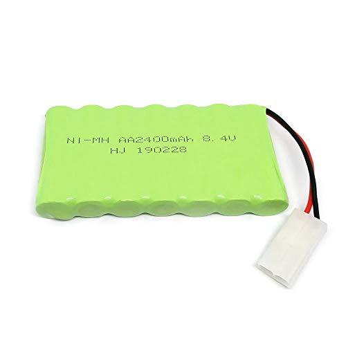Gecoty® Pacco batteria Ni-MH ricaricabile da 8,4 V 2400 mAh (spina KET 2P) per giocattoli di telecomando, illuminazione, dispositivi di sicurezza, utensili elettrici