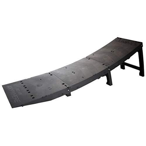 Jumpack - Die tragbare, Faltbare Launch Rampe für BMX, Skateboard, MTB, Roller, Rollerblade & Snowboard - lässt Sich in einen Rucksack für den Transport zusammenfalten.