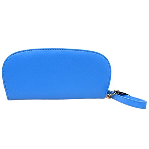 HENGSONG Donna PU Pelle Retro Gufo Wallets Portafogli Carta Borse (Blu Profondo) Blu