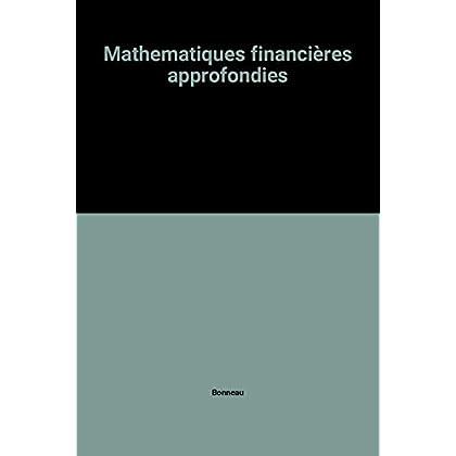 Mathematiques financières approfondies