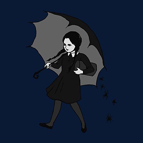 Wednesday Addams Umbrella Women's Hooded Sweatshirt Navy Blue