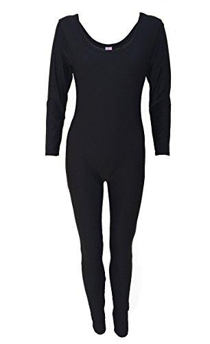 Kostüm Schwimmen Up Cover - Damen zurückhaltenden Full Cover Up Schwimmen Strand Kostüm Badeanzug Burkini All in One Gr. XL, schwarz