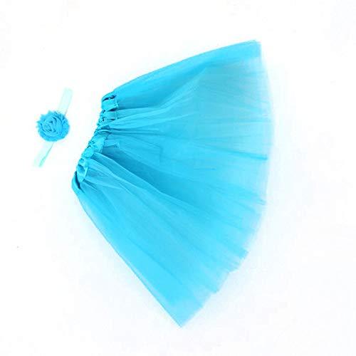 MAYOGO Kinder Tüllrock 50er Kurz Tutu Ballet Tanzkleid Blumenmuster Unterkleid Cosplay Crinoline Petticoat für Rockabilly Kleid Karneval Party Rock (Militär Kleider Ball)