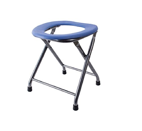Klappbare Stahlrohr-stühle (Old Man Töpfchen chaircommode Stuhl klappbar tragbar dicker Stahlrohr Badezimmer Schwangere Frauen Töpfchen Stuhl praktisch bequeme und stabile)