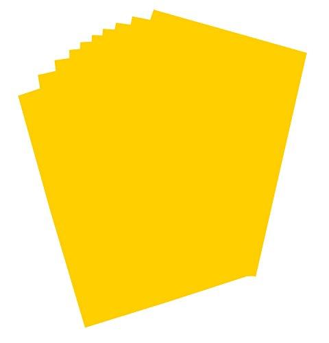 folia 65131 - Plakatkarton, ca. 48 x 68 cm, 10 Bögen, 380 g/qm, einseitig maisgelb gefärbt - ideal zum Basteln oder Erstellen von Plakaten und Anzeigen